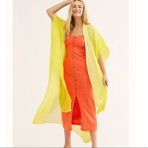 NEW Free People Angelica Gauzy Kimono Duster